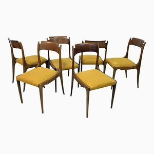 Mid-Century Italian Dining Chairs, 1950s, Set of 6