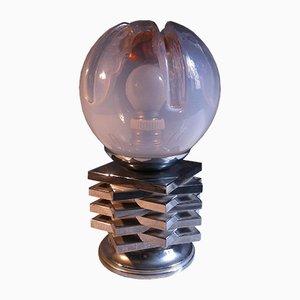 Lampe de Bureau Space Age en Verre Murano de Mazzega, Italie, 1970s