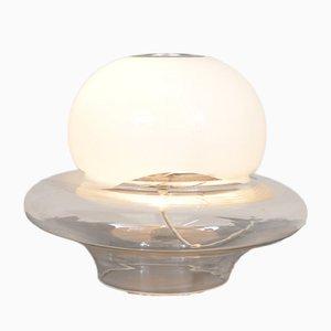 Mid-Century Glas Tischlampe