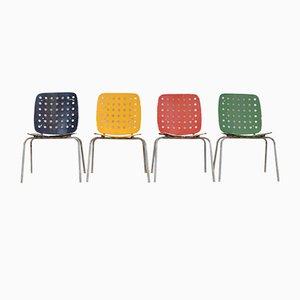 Chaises de Jardin Multicolore Modèle 600 par Hans Coray pour Kim, Set de 4
