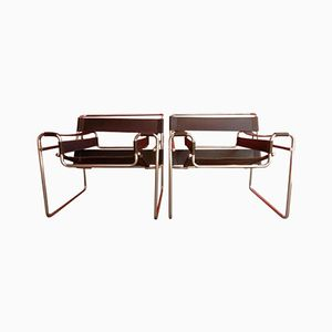 Vintage B3 Wassily Chairs by Marcel Breuer, 1970s, Set of 2