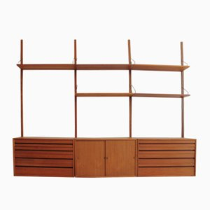 Teak Floating Wall Unit by Poul Cadovius for Cado, 1960s