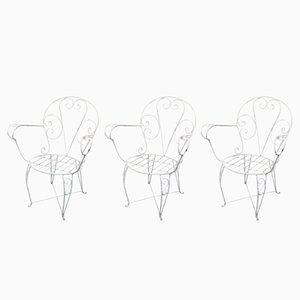 Spanische Vintage Gartenstühle, 3er Set