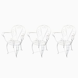Vintage Spanish Garden Chairs, Set of 3