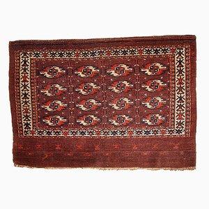 Antiker Handgemachter Turkmenischer Tekke Teppich, 1860er