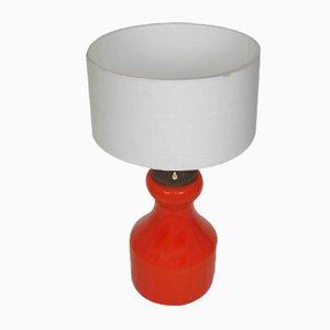 Lámpara moderna de vidrio, años 70