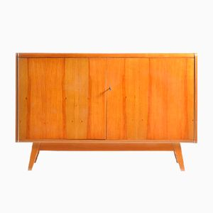 Sideboard with Black Glass Top from Jitona, 1960s