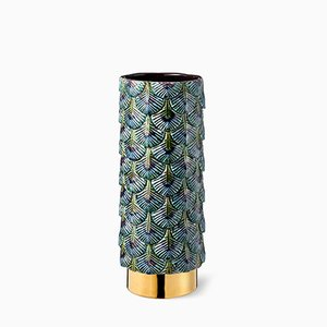 Vase Plumage Décoré à la Main Multicolore par Cristina Celestino pour BottegaNove