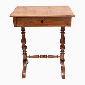 Tavolo da cucito antico in ciliegio