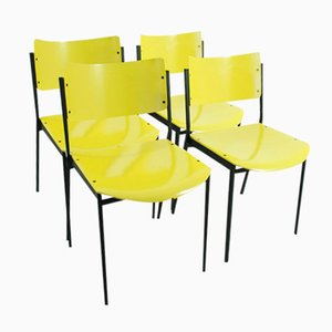 Yellow Chairs, 1960s, Set of 4