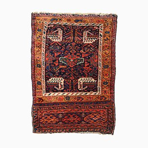 Antique Middle Eastern Handmade Bag Face Rug, 1880s