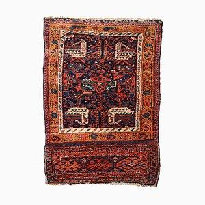 Handgearbeiteter antiker orientalischer Bag Face Teppich, 1880er