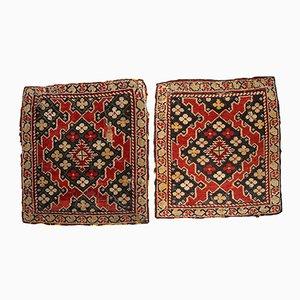 Alfombras armenias de Karabaj antiguas hechas a mano. Juego de 2