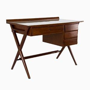 Italian Mahogany Desk, 1950s