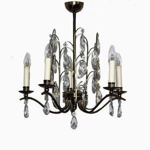 Lámpara de araña de cristal, años 50