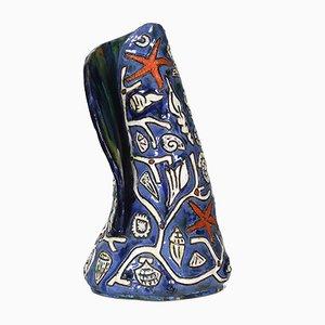 Jarrón de cerámica esmaltada de Régil, años 60