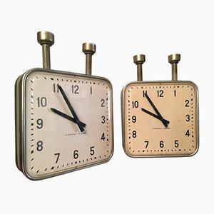 Reloj de techo vintage de doble cara de Gio Ponti para Boselli Milano