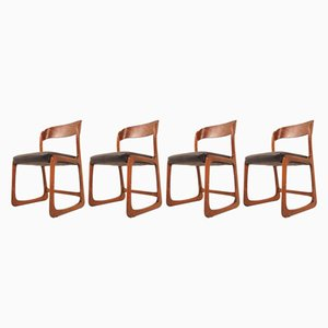 Mid-Century French Dining Room Chairs by Baumann, Set of 4