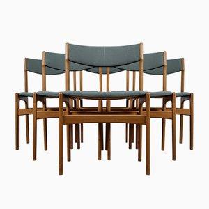 Dänische Eichenholz Vintage Esszimmerstühle, 6er Set