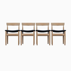 Mid-Century Danish Solid Oak Dining Chairs, Set of 4