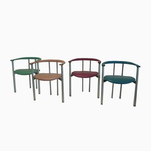 Leather Chairs by Antonio Citterio & Paolo Nava for B&B Italia, Set of 4