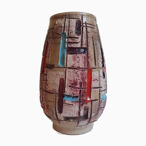 Multicolored Italian Ceramic Vase from Fratelli Fanciullacci, 1960s