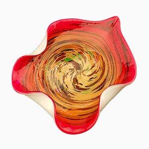 Cuenco Avem Tutti Frutti vintage grande de cristal de Murano