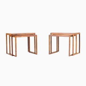 Tavolini a incastro in palissandro, Danimarca, anni '60, set di 2