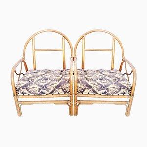 Französische Vintage Bambus Sessel