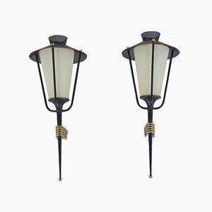 Wandlampen von Arlus, 1950er, 2er Set