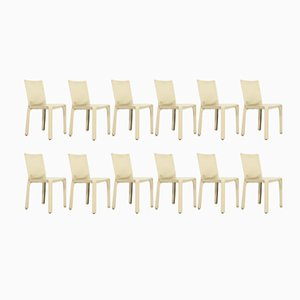 Cab Chairs by Mario Bellini for Cassina, 1980s, Set of 6