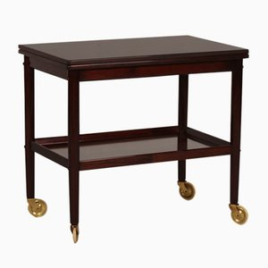 Vintage Danish Rungstedlund Mahogany Trolley by Ole Wanscher for Poul Jeppesen