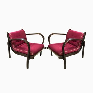 Mid-Century Armchairs by Kropacek and Kozelka for Interier Praha, 1944, Set of 2