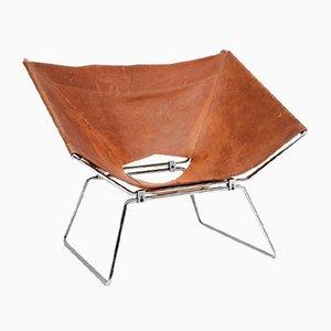 Annau Leather Chair by Pierre Paulin for AP Originals, 1954