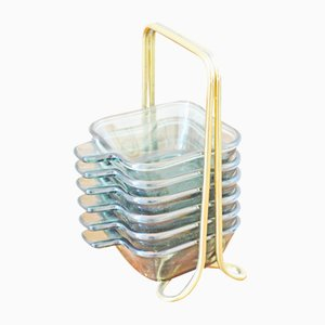 Vintage Stacking Ashtrays by Wilhelm Wagenfeld for WMF