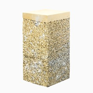 Table d'Appoint Rock S4 en Métal Doré par Michael Young pour Veerle Verbakel Gallery, 2016