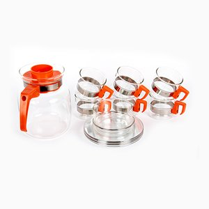 Simax Boiling Glassware Coffee Set by Adolf Matura for Kavalier, 1970s
