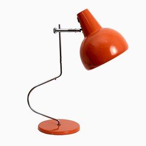 Lámpara de mesa naranja de Josef Hurka para Lidokov, 1963