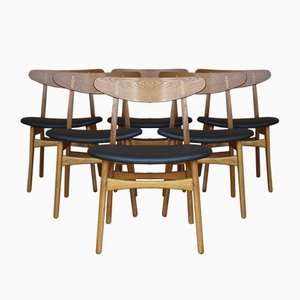 Danish CH30 Oak Dining Chairs by Hans Wegner for Carl Hansen & Son, 1952, Set of 6