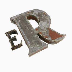 Lettere Er (lui) industriali, Francia, anni '40, set di 2