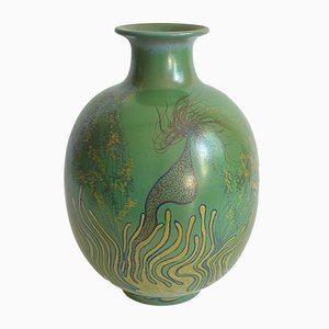 Large Ceramic Vase with Marine Fauna Decor by Onestini Giacomo, 1970s