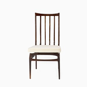 Chaise en Jacaranda et Tissu par Giuseppe Scapinelli pour Fabrica de Moveis Giesse, 1956