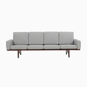 GE 236 Large Wooden Sofa by Hans J. Wegner for Getama, 1958