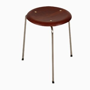 Mid-Century Danish Stool by Arne Jacobsen for Fritz Hansen