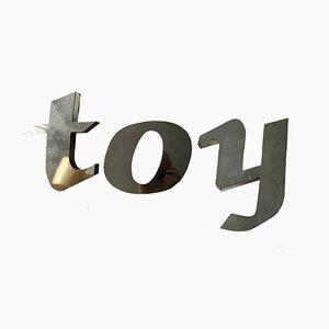 Lettres T, O et Y en Aluminium, 1950s