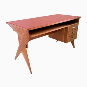 Italian Mahogany Writing Desk, 1950s