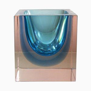 Jarrón de cristal de cristal de Murano de Alessandro Mandruzzato, años 60