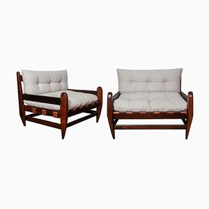Vintage Jacaranda Armchairs by Jean Gillon, Set of 2