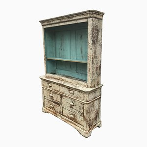 Vintage Patinated Wood Cupboard