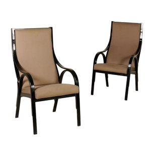 Italian Cavour Armchairs by Stoppino, Meneghetti, & Gregotti for Sim, 1980s, Set of 2